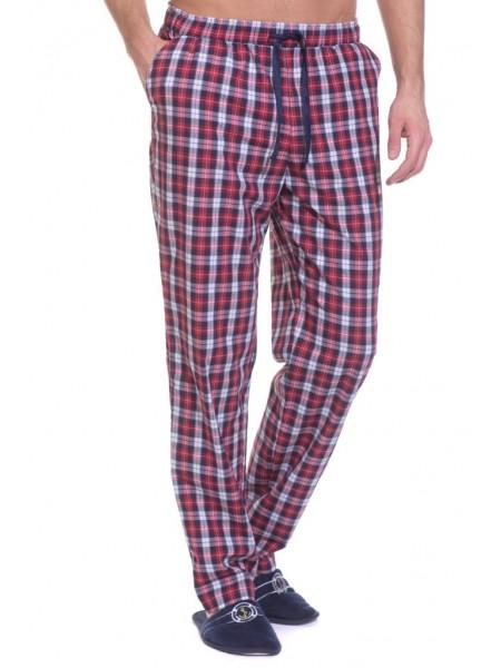 Мужские домашние брюки VIKING № 002 (PM France 2193/3) (бордовая и синяя клетка)