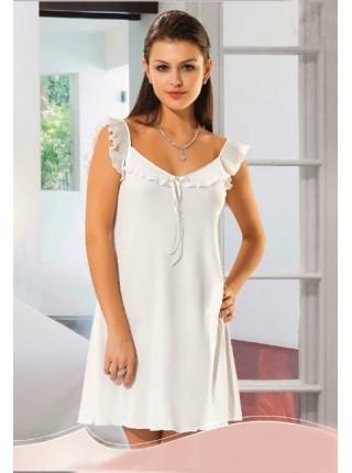 Халат-пеньюар и ночная сорочка Jenni (белый)