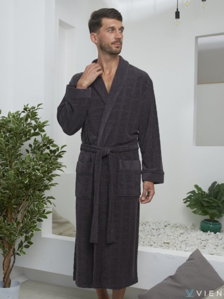 Облегченный мужской халат Alan (EFW) (антрацит)
