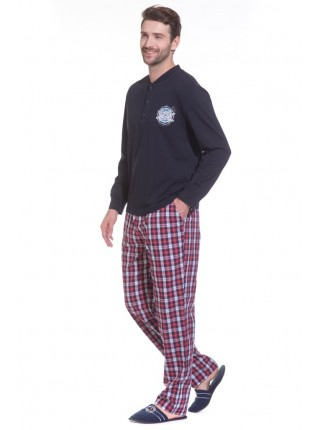 Домашний костюм - пижама BOSS №30 (PM 2193/1) (синий/комбинированный)