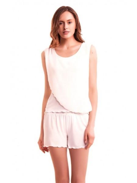 Стильная нежная пижама Luisa Moretti (ESC 3027) (розовый, крем, темно-сиреневый)