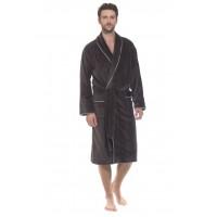 Мужской махровый халат Elegant (PM 1588) (темно-серый)