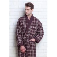Мужской вафельный халат Gentelmen Style (E 10020) (темный шоколад)
