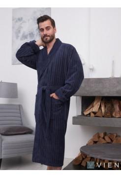 Махровый халат из бамбука Lomond (EFW) (denim)