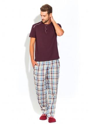Домашний костюм - пижама BOSS №25 (PM 2140/3) (темно-сливовый/комбинированный)