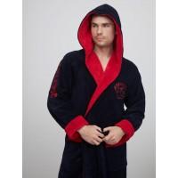 Спортивный бамбуковый халат АТЛЕТИК (EFW) (синий/красный)