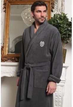 Мужской халат из микрокоттона Luxor (EFW) (мокко)