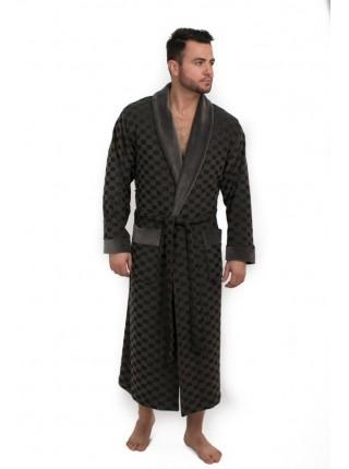 Велюровый халат из бамбука JONATAN (EPP M120) (антрацит (тёмно-серый))