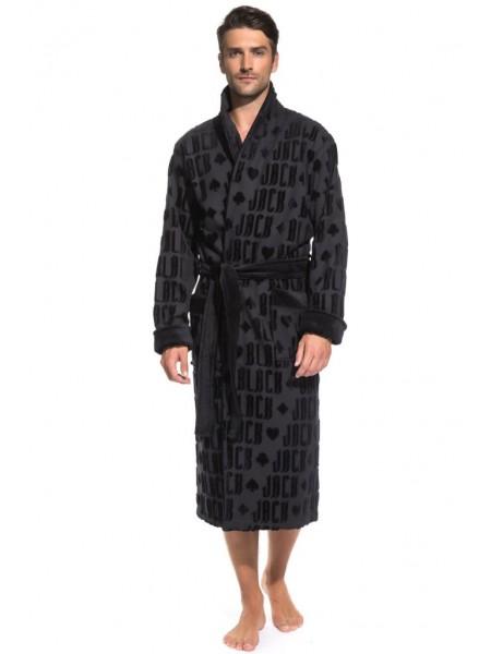 Стильный махровый халат Black Jack (PM France 937) (черный)