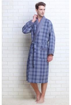 Мужской вафельный халат Gentelmen Style (E 10020) (насыщенно-серый)