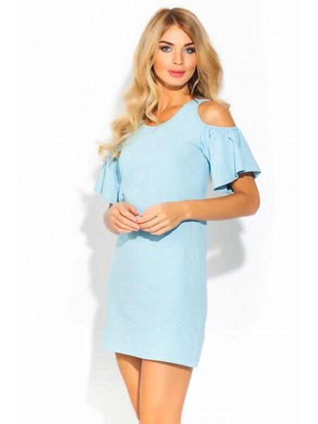 Платье - туника AZALEA (PM 1437) (голубой меланж)