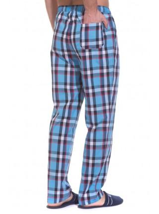 Мужские домашние брюки VIKING №002 (PM France 2135/5) (голубая клетка)