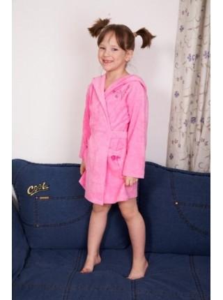 Детский халат из легкой махры 7 (Розовый)