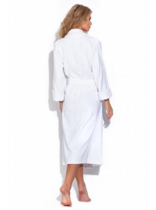 Женский махровый халат белый, серия SPA. (Белый)