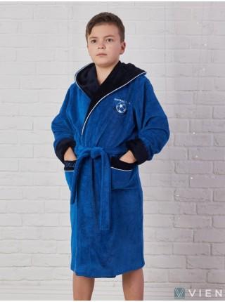 Подростковый бамбуковый халат Ronaldo (EFW) (royal)
