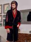 Спортивный бамбуковый халат ATHLETIC (EFW) (Navy/Red)