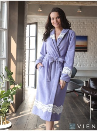 Легкий бамбуковый женский халат Mirabella II (EFW) (фиалка)