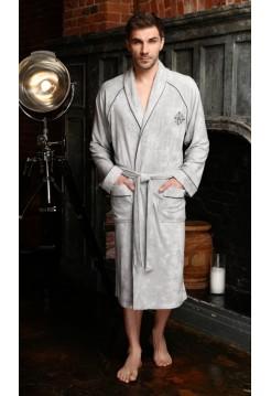 Махровый халат из бамбука Colombo (EFW) (серебро)