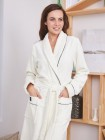 Махровый халат Trendy (EFW) (крем)