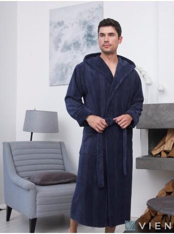 Махровый халат из бамбука Coragio (EFW) (denim)