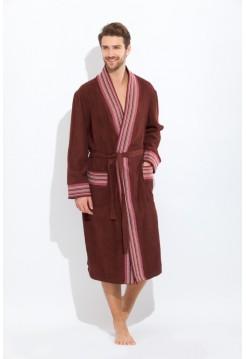 Стильный махровый халат COSMOS (PM 917) (шоколад)