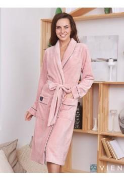Махровый халат Trendy (EFW) (пудра)
