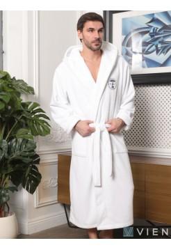 Махровый халат с капюшоном Sydney (EFW) (белый)
