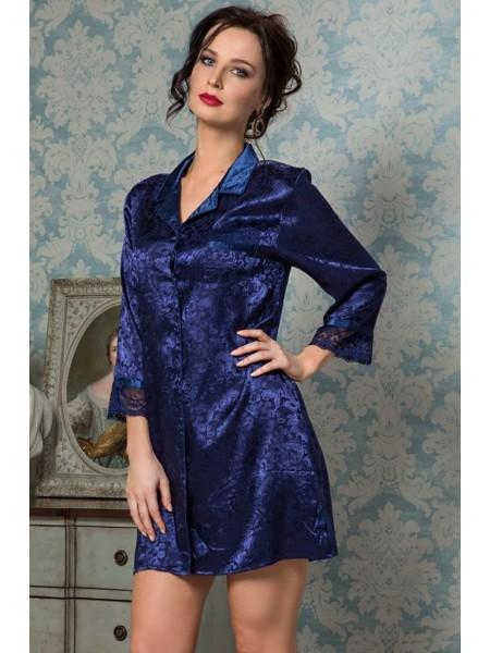 Шелковая рубашка ANGELINA DELUXE (9537) (синий)