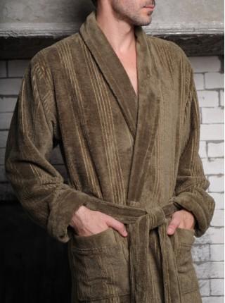 Махровый халат из бамбука Valentino (EFW) (хаки)