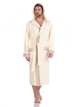 Бамбуковый махровый халат с капюшоном Le Voyageur (PM 931) (кремовый)