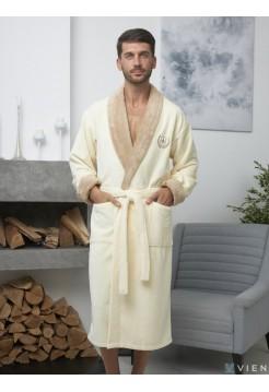 Мужской махровый халат Ludovic (EFW) (крем)