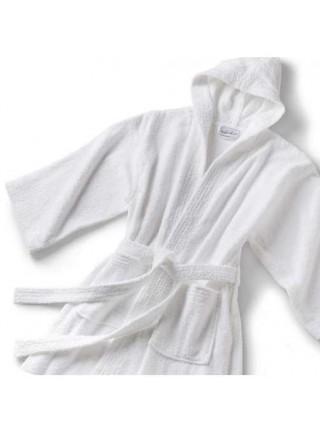 Женский махровый халат удлиненный, серия SPA Plus. (Белый)