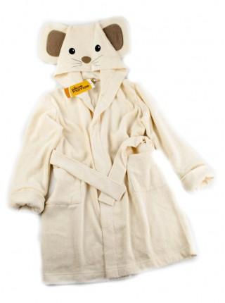 Детский махровый халат Funny Mouse (PECHE MONNAIE France 5) (кремовый)