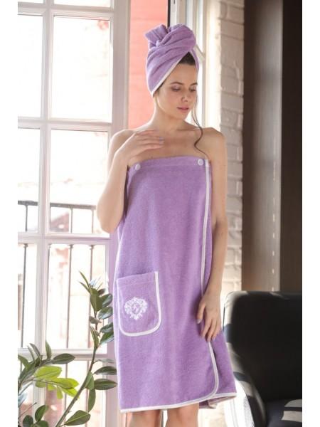 Женский набор для бани и сауны Sauna Joliy (EFW) (лила)