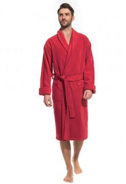 Мужской махровый халат Optimum (PM France 941) (красный)