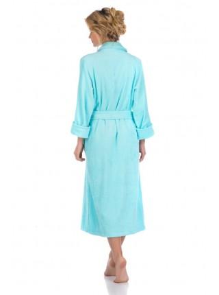 Женский махровый халат Цвет: бирюзовый (бирюзовый)