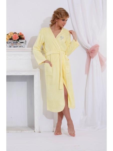 Шикарный бамбуковый халат Shine (PM 722) (лимонный)