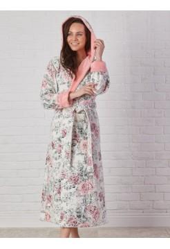 Махровый халат с капюшоном MADONNA (EFW) (персиковый)