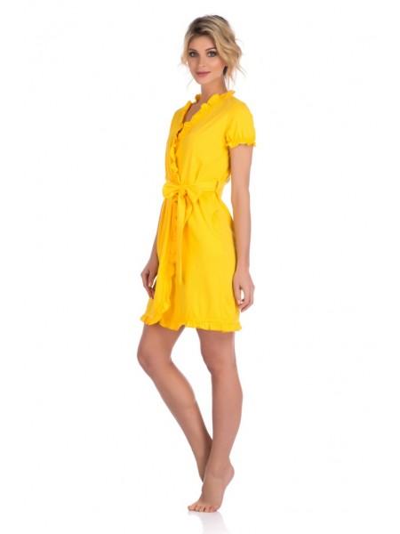 Легкий халат из натурального хлопка Romantica (E 511 111) (желтый)