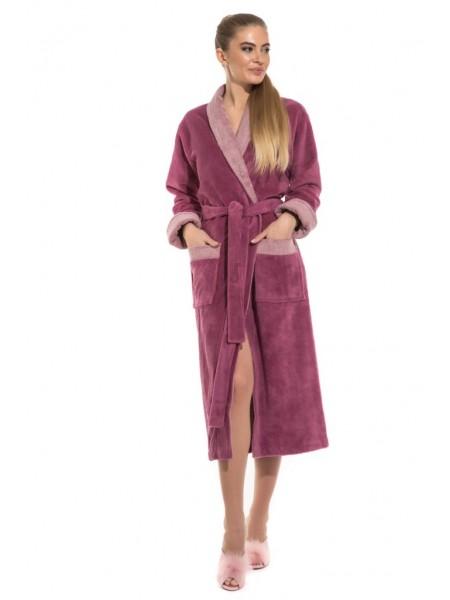 Шикарный бамбуковый халат Belette (PM France 735) (розовато-лиловый)