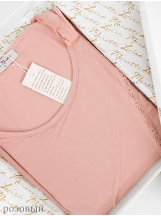 Стильная нежная пижама Luisa Moretti (ESC 3029) (розовый, крем, темно-сиреневый)