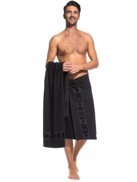 Банное махровое полотенце Black Jack 70x140 (PM France) (черный)