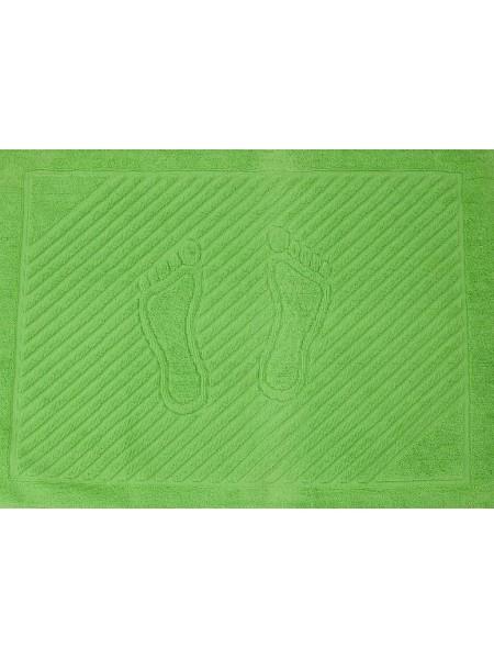 Салатовое махровое полотенце для ног 50х70 (ET) (салатовый, зеленый)