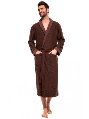 Облегченный махровый халат из бамбука Organique Bamboo (PM France 419) (шоколад)