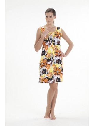 Легкий халат (E 1004) (желтые цветы)