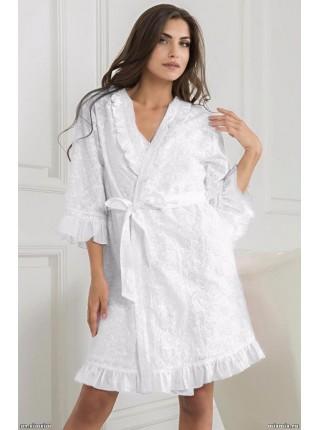Короткий халат-кимоно Carolina (EM 6043) (белый)