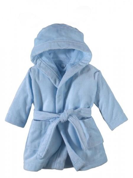 """Детский махровый халатик от 0 до 1 года """"Дорогуша"""" (EVA) (голубой)"""