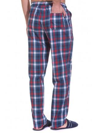 Мужские домашние брюки VIKING № 002 (PM 2148/1) (синяя и красная клетка)