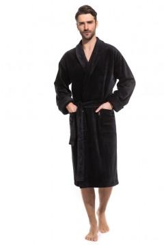 Мужской махровый халат Optimum (PM France 941) (черный)