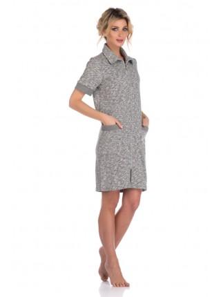Оригинальный халат из плотного трикотажа L'étincelle (PM 395) (антрацит (темно-серый))